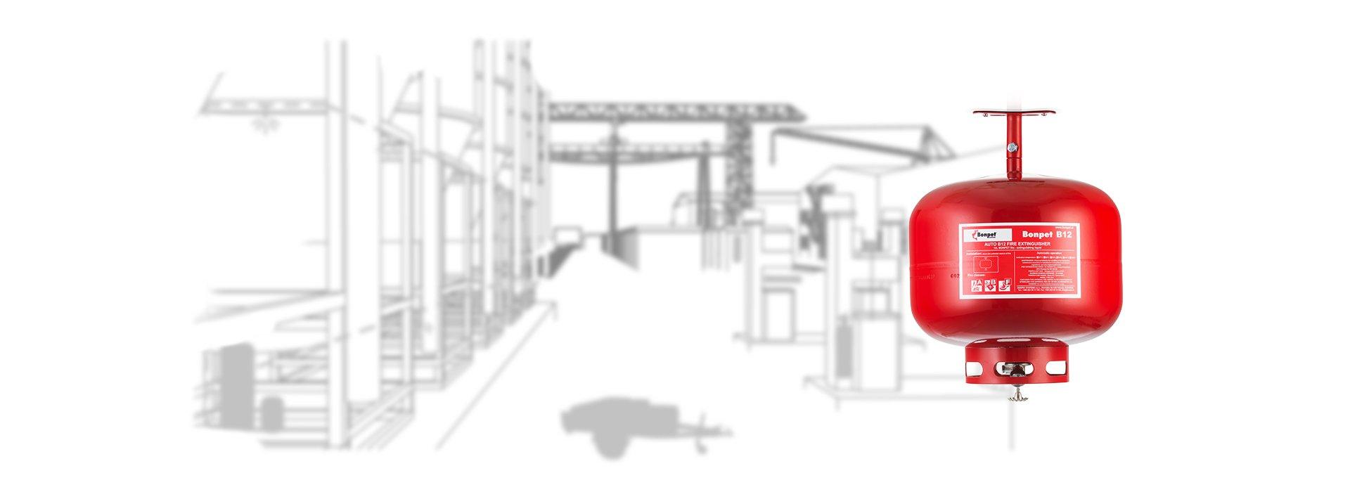 Automatische Feuerlöscher - Entdecken Sie hier die Besonderheiten der automatischen Feuerlöscher von Bonpet und sichern Sie sich Ihren eigenen automatischen Feuerlöscher.