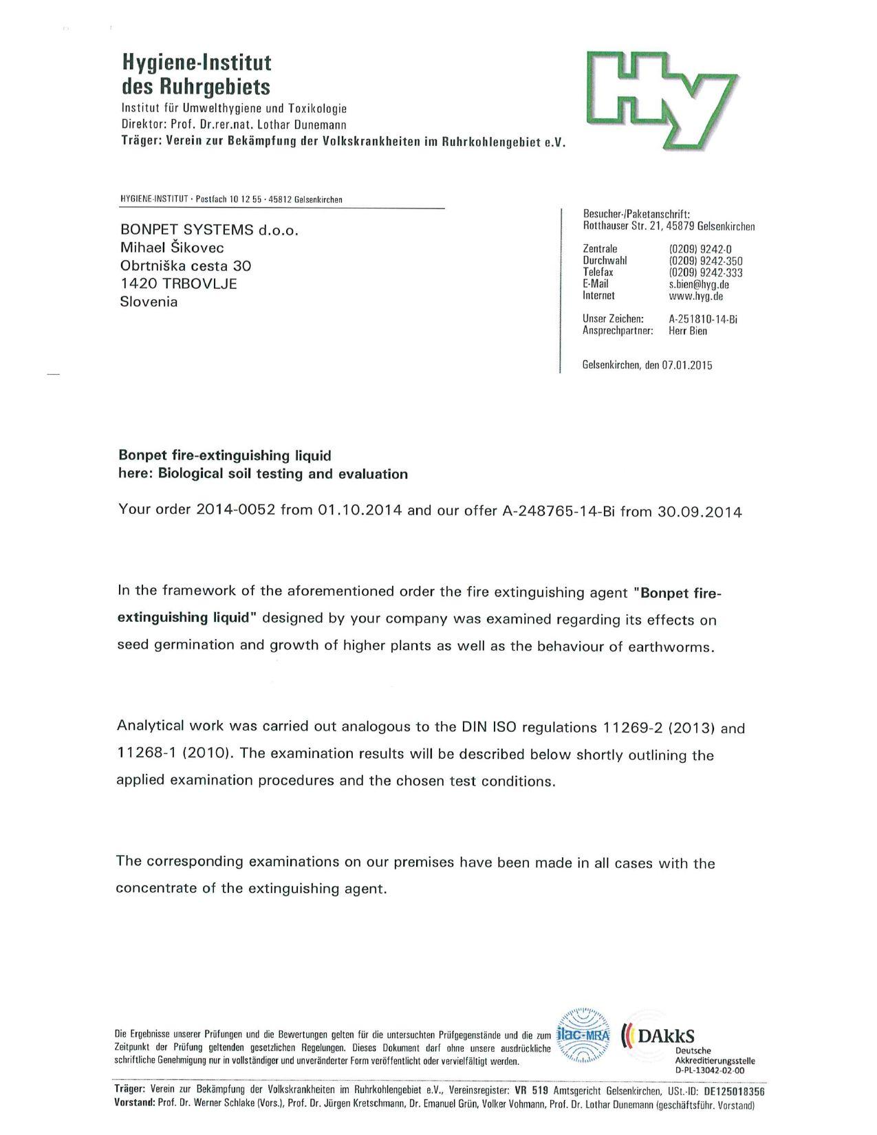 Zertifikate - Bonpet Systems